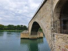 Chapelle et pont Saint-Bénézet - Français:   Pont Saint-Bénézet à Avignon (Vaucluse, France).