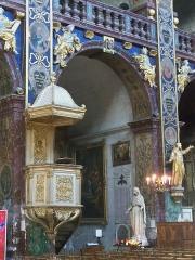 Eglise paroissiale Notre-Dame-des-Anges - Français:   Chaire à prêcher de Notre Dame des Anges à l\'Isle sur la Sorgue (84)