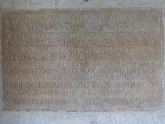 Eglise Saint-Martin - Deutsch:   Église Saint-Martin de Limeuil Inschrift