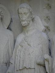 Cathédrale Saint-André -  Portail royal de la cathédrale Saint-André de Bordeaux (33). Ébrasement droit. Apôtres.
