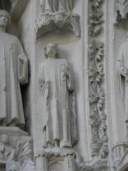 Cathédrale Saint-André -  Portail royal de la cathédrale Saint-André de Bordeaux (33). 4ème voussure. Prophètes (de gauche à droite).