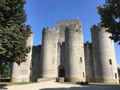Domaine de Roquetaillade -  Château de Roquetaillade (Mazères, Gironde, Nouvelle-Aquitaine, France), façade ouest.