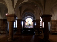 Eglise Saint-Pierre-et-Paul dite Sainte-Richarde -  Alsace, Bas-Rhin, Église Saints-Pierre-et-Paul dite Sainte-Richarde (PA00084587, IA00115010): Crypte romane (XIe).