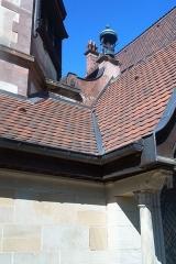 Domaine de la Léonardsau - Français:   Château de la Leonardsau (actuel musée du Cheval et de l\'Attelage) - façades, toitures, vestibule d\'entrée, chambre alsacienne, salon 1900, grand salon - parc dans ses aménagements d\'origine