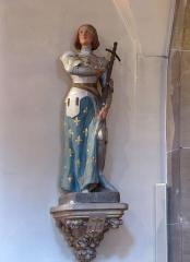 Eglise catholique de l'Assomption-de-la-Vierge -  Alsace, Bas-Rhin, Rosenwiller, Église Notre-Dame de l'Assomption (PA00084907, IA00075624): Statue de Jeanne d'Arc (XIXe).