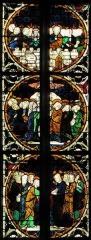Eglise catholique de l'Assomption-de-la-Vierge -  Alsace, Bas-Rhin, Rosenwiller, Église Notre-Dame de l'Assomption (PA00084907, IA00075624).  Verrière du chœur (partie supérieure de la baie 2) (même atelier que Kloster Königsfelden en Suisse, XIVe): Incrédulité de Thomas, Ascension, Pentecôte (de bas en haut).        This object is classé Monument Historique in the base Palissy, database of the French furniture patrimony of the French ministry of culture,under the referencesPM67000243 and IM67006577. беларуская (тарашкевіца)| brezhoneg| català| Deutsch| English| español| suomi| français| magyar| italiano| македонски| Plattdüütsch| português| українська| +/−