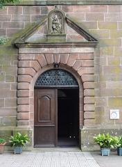 Ancienne église abbatiale -  Alsace, Bas-Rhin, Saint-Jean-Saverne, Église abbatiale Saint-Jean-Baptiste (PA00084921, IA00055618): Porte principale (1733).