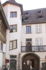 Maison - Français:   Ancien hôtel de Saint-Lô à Sélestat façades sur rue et sur cour, toiture