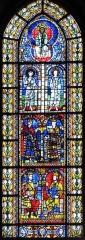 Cathédrale Notre-Dame -  Alsace, Bas-Rhin, Cathédrale Notre-Dame de Strasbourg (PA00085015). Croisillon nord: Un des plus anciens vitraux