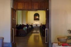 Eglise Sainte-Madeleine - Deutsch:  Interior of the Église Sainte-Madeleine de Strasbourg during a mass.