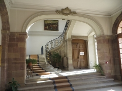 Palais épiscopal - English:  Episcopal Palace, Strasbourg - lower part of the grand staircase