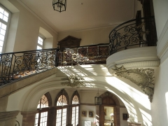 Palais épiscopal - English:  Episcopal Palace, Strasbourg - upper part of the grand staircase