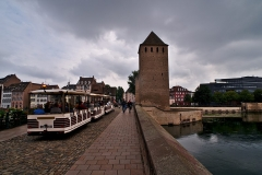 Ponts couverts - English:  View on one of the towers of the Ponts Couverts in Strasbourg.