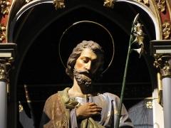 Eglise Saints-Pierre-et-Paul -  Alsace, Bas-Rhin, Wissembourg, Église abbatiale Saints-Pierre-et-Paul (PA00085247, IA67008036).  Autel secondaire
