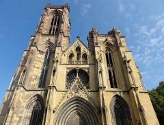 Eglise Saint-Arbogast, puis Notre-Dame de l'Assomption - Français:   Alsace, Haut-Rhin, Église Notre-Dame de l\'Assomption de Rouffach (PA00085638, IA68004432): Vue extérieure de la façade occidentale.