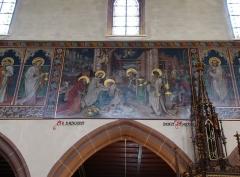 Eglise catholique Saint-Hippolyte - Français:   Alsace, Haut-Rhin, Église Saint-Hippolyte de Saint-Hippolyte (PA00085661, IA68005984). Fresque \