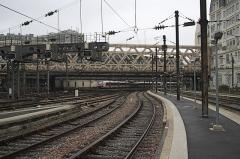 Gare de l'Est - Deutsch:  Gare de l'Est und Pont La Fayette in Paris