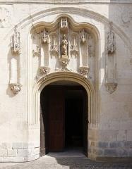 Eglise Notre-Dame - Français:   Portail central de la Collégiale Notre-Dame de Melun