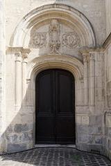 Eglise Notre-Dame - Français:   Porte nord de la collégiale Notre-Dame de Melun
