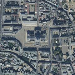 Ancienne abbaye Sainte-Geneviève, actuel lycée Henri IV - Français:   Place du Panthéon. Orthophotographie de Paris issue de la BD Ortho de l\'IGN au zoom 18 (soit 59cm/pixel)