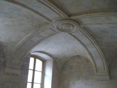 Ancien couvent des Bernardins - Français:   Plafond d\'une petite salle du Collège des Bernardins
