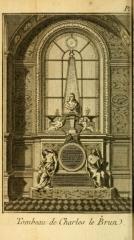 Eglise Saint-Nicolas-du-Chardonnet - English:  Tombeau de Charles Le Brun Voyage pittoresque de Paris Dezallier d'Argenville