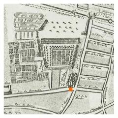 Eglise Saint-Nicolas-du-Chardonnet - English:  Plan de Bullet, 1676: les Bernardins