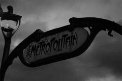 Métropolitain, station Saint-Michel -  Metro sign