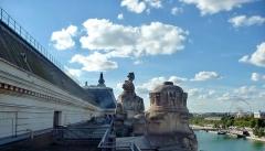 Ancienne gare d'Orsay, actuellement musée d'Orsay -  Musée d'Orsay, Paris: terrasse.