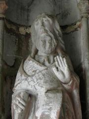 Eglise Notre-Dame de Rumengol -  Saint-André. Collège apostolique du porche sud de l'église Notre-Dame-de-Rumengol au Faou (29).