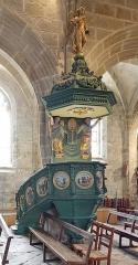 Eglise Saint-Ronan - Français:   Chaire de l\'Église Saint-Ronan à Locronan (Finistère, France).
