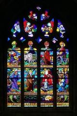 Eglise Saint-Ronan - Français:   Vitrail de l\'Église Saint-Ronan à Locronan (Finistère, France).