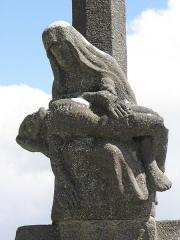 Chapelle de Notre-Dame-de-la-Joie - Français:   Chapelle Notre-Dame-de-la-Joie de Penmarc\'h (29). Pietà du Calvaire.