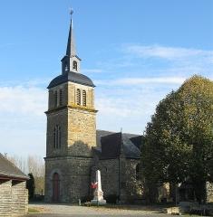 Eglise Saint-Martin de Tours - English:  Saint-Martin-de-Tours parish church of commune of Amanlis, France, department of Ille-et-Vilaine, region of Brittany.