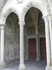 Ancienne cathédrale Saint-Samson -  Entrée du petit porche de la cathédrale Saint-Samson de Dol-de-Bretagne (35).