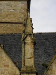 Eglise Saint-Melaine - Français:   Façade sud de l\'église Saint-Melaine de Domalain (35). 2ème contrefort. Pinacle.