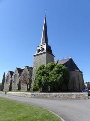 Eglise Saint-Crépin ou Saint-Crépinien - Français:   Façade sud et chevet de l\'église Saint-Crépin et Saint-Crépinien de Rannée (35).