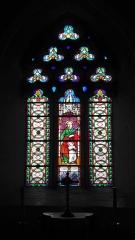 Eglise Saint-Cyr et Sainte-Julitte -  Vitrail de Sainte Julitte et Saint Cyr, église Saint-Cyr-et-Sainte-Julitte, Fr-56 Ambon