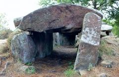 Trois dolmens à galerie de Mané-Bras - Français:   Dolmen de Lann-Mané-Bras: détail du groupe central