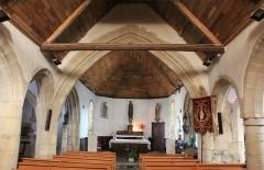 Chapelle Saint-Mélèc de Tréganteur -  Chapelle de Trégranteur: vue générale nef