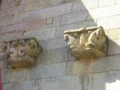 Eglise Saint-Gilles -  Église Saint-Gilles de Malestroit (Morbihan, France), sculptures du flanc sud, à gauche du portail