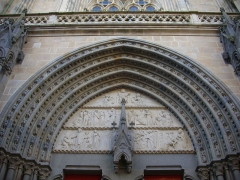 Cathédrale Saint-Pierre -  Cathédrale Saint-Pierre de Vannes (Morbihan, France), tympan