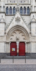 Eglise Notre-Dame - English:  Portal of the Our Lady church in Aigueperse, Puy-de-Dôme, France