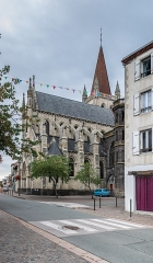 Eglise Notre-Dame - English:  Our Lady church in Aigueperse, Puy-de-Dôme, France