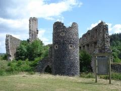 Ruines du château de Jonchères - English:   Rauret (Haute-Loire, Fr) -  château de Jonchères (ruines) at Joncherette.