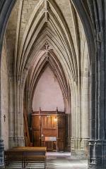 Abbatiale Saint-Géraud - English:  Side aisle of the Saint Gerald abbey church of Aurillac, Cantal, France