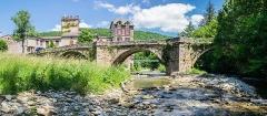 Vieux pont de Saint-Maurice-de-Sorgues - English:  Old bridge in Saint-Maurice-de-Sorgues, Aveyron, France