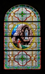 Eglise Saint-Thomas-de-Cantorbéry - English:   Stained-glass window in the Saint Thomas Becket church in Mur-de-Barrez, Aveyron, France
