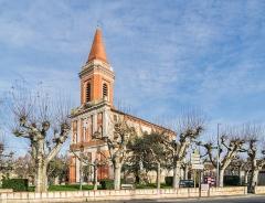 Eglise - English:  Saint Blaise church in Seysses, Haute-Garonne, France