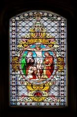 Eglise - English:  Stained-glass window in the Saint Blaise church in Seysses, Haute-Garonne, France